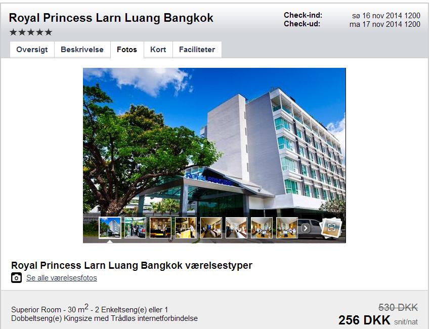 Hotel Bangkok pris