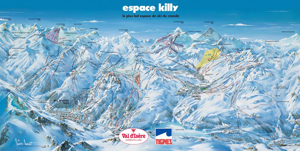 L'Espace Killy byder på 350 km afvekslende skiløb