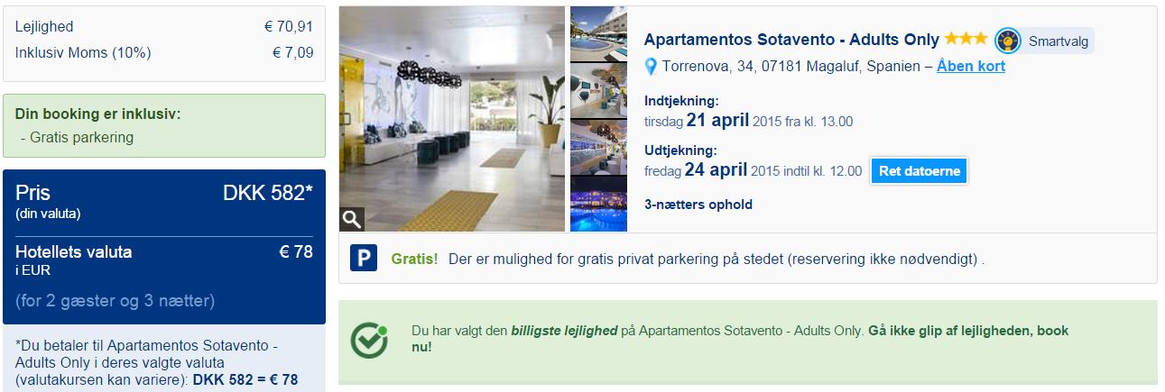 lejlighed booking com