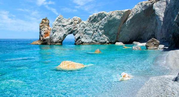 Skiathas har Grækenlands bedste sandstrande...